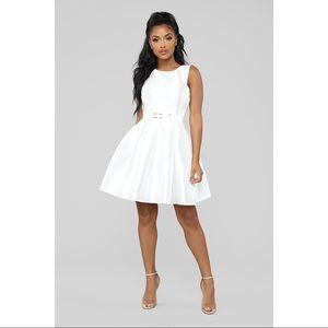 NWT Fashion Nova Sandra D White Sleeveless  Dress